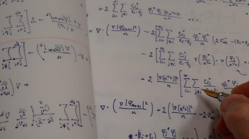 Analytical derivation in progress